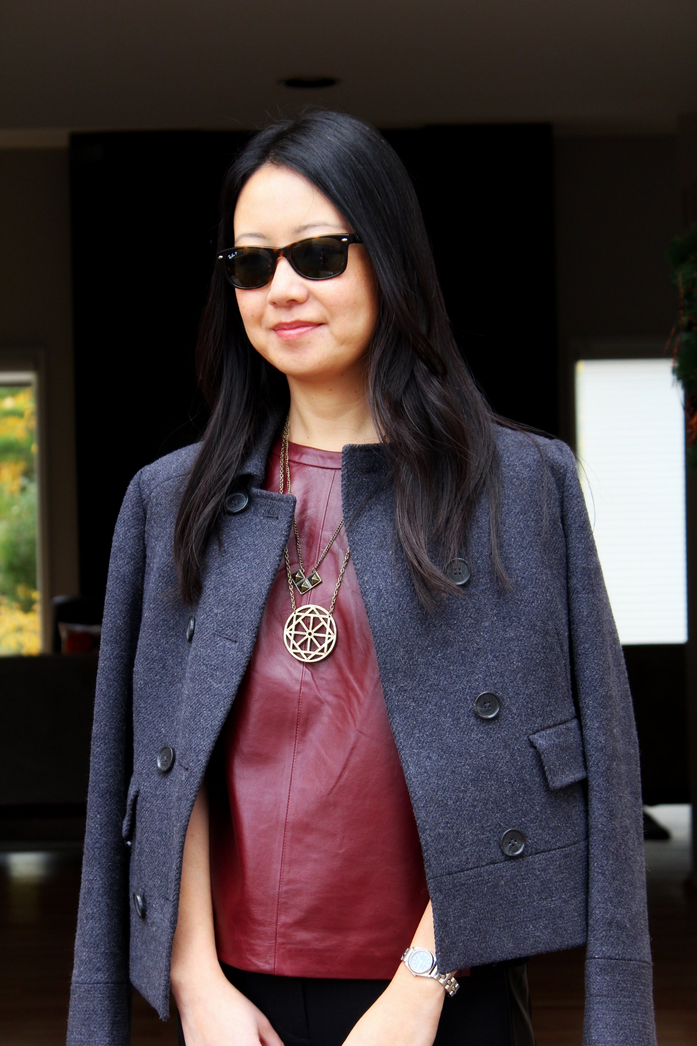 Outfit Highlight: Leather Accents