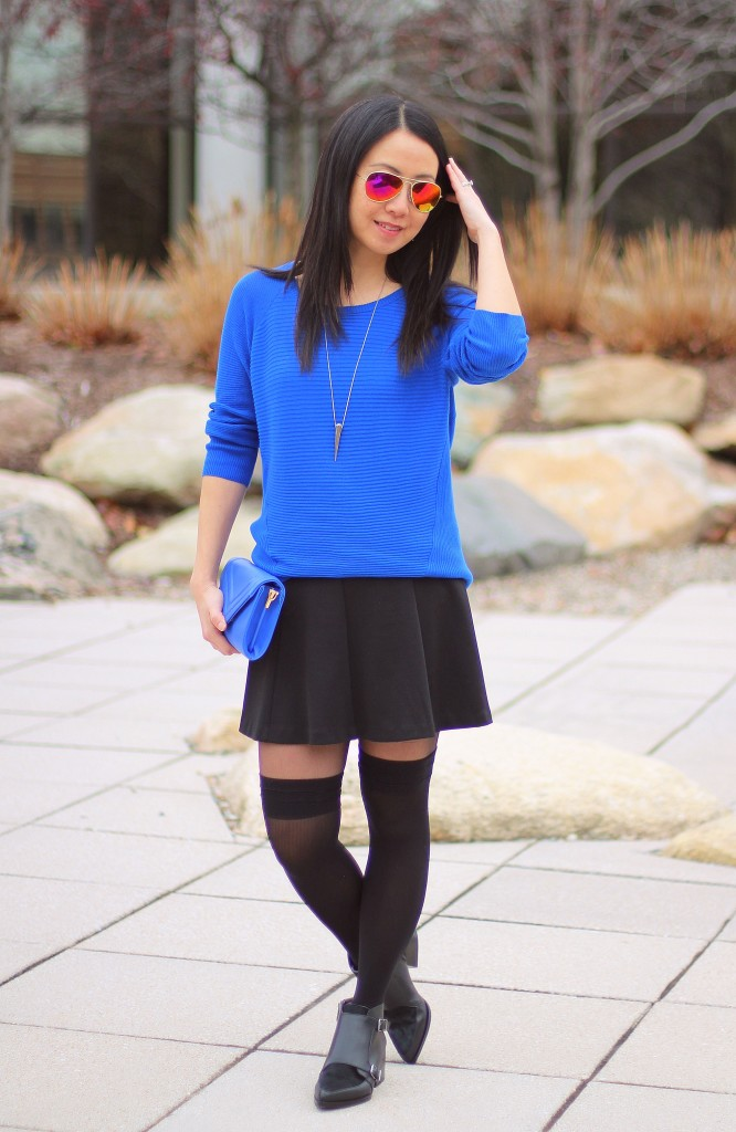 Outfit Highlight: Black and Blue