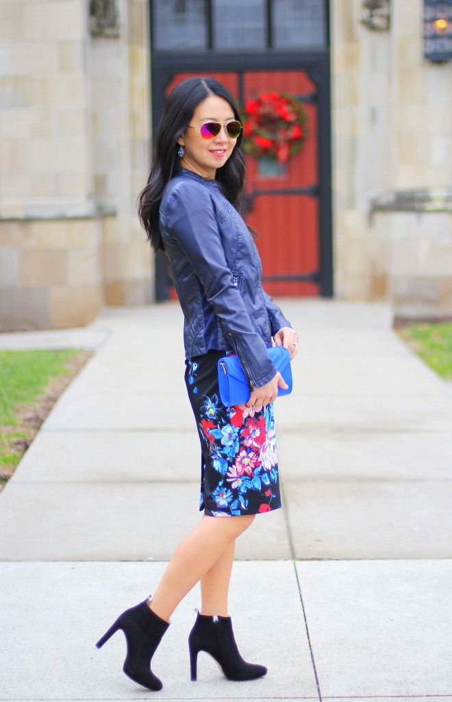 Outfit Highlight: Floral and Leather