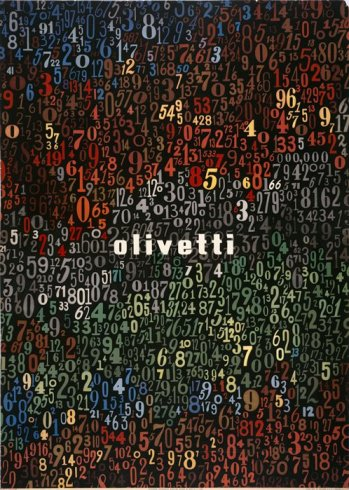 Olivetti poster designed by Giovanni Pintori, 1949. 28 in. x 20 in. Collection SFMOMA.