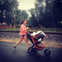 My run view 9/15/13 - Run in the rain with Lindsay and Maevery - Arvada, Co. © Sally Morrow Photography