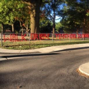 My run view 10/9/13 - Walk or bike to school week at Westwood View Elementary, Westwood, Kan.