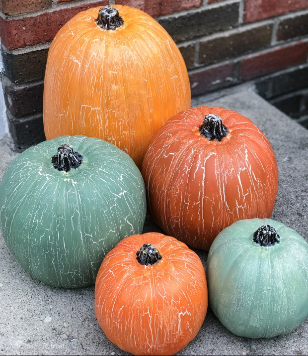 Crackle Pumpkins Set