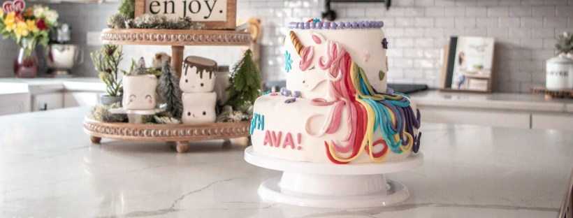 Perfect unicorn cake for little girl's birthday