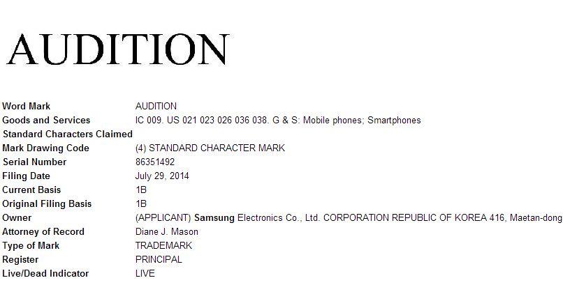 Samsung audition