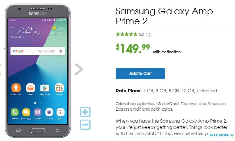 Samsung Galaxy Amp Prime 2 User manual / Guide