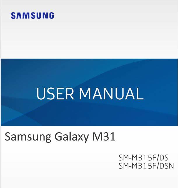 Samsung Galaxy M31 User Manual / Guide