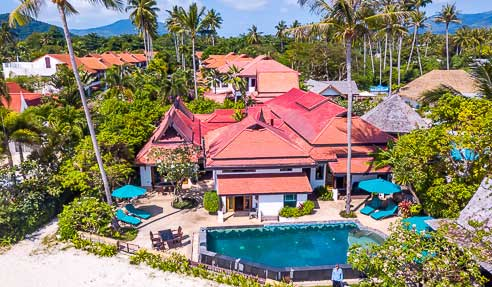 Villa Rock Rose On The Beach – Luxury Beachfront Property – South Of Koh Samui