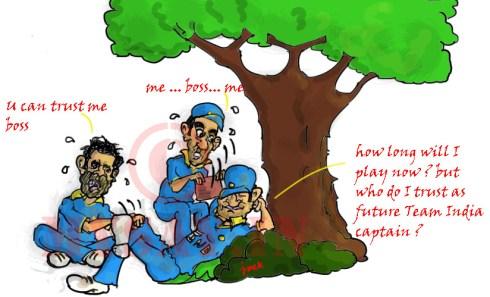 Gambhir image, Kohli cartoon image,Dhoni cartoon image