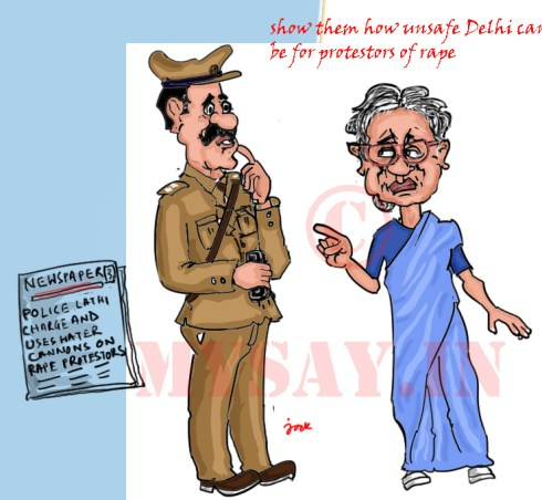 sheila dikshit cartoon image,