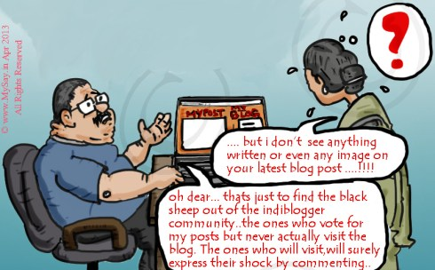 indiblogger.in votes, indiblogger cartoon