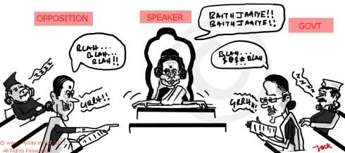 meira kumar cartoom,sonia gandhi cartoon,sushma swaraj cartoon,mysay.in,parliament cartoon,