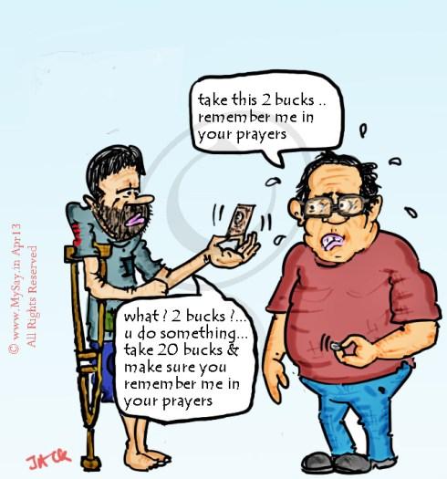 Remember me in your prayers,beggar  cartoon image,