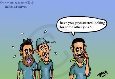 virat kohli cartoon,gautam gambhir cartoon,shikhar dhawan cartoon,mysay.in