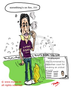 srk cartoon,shahrukh khan cartoon,ipl controversy,mysay.in cricket cartoons,bollywood cartoons,