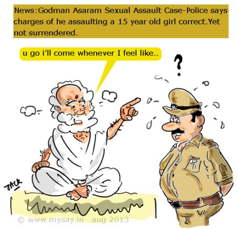 rape , spiritual guru cartoon image,asaram controversy,mysay.in ,social message,asaram picture,