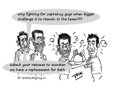 Shikhar Dhawan cartoon,Dhoni cartoon,Gambhir cartoon,Virat Kohli cartoon,cricket cartoons,mysay.in,