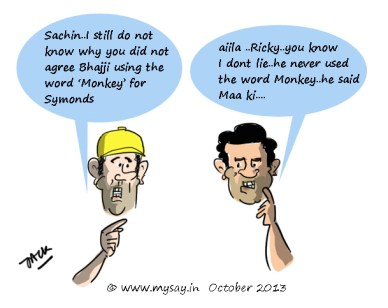Ricky Ponting cartoon Sachin Tendulkar cartoon,monkey gate scandal,cricket cartoons,