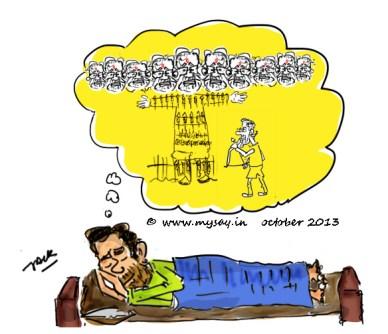dussehra ,modi as ravana cartoon image,ravana funny image,mysay.in,