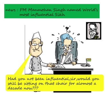 manmohan singh most influential sikh,funny political cartoon,mysay.in,