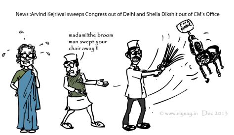 sheila dikshit cartoon,delhi assembly polls,arvind kejriwal cartoon,mysay.in,political cartoons,