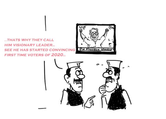 modi cartoon,mysay.in,modi teachers day speech,