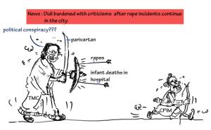 mamta banerjee cartoon image,mysay.in, political conspiracy cartoon,cpm cartoon,