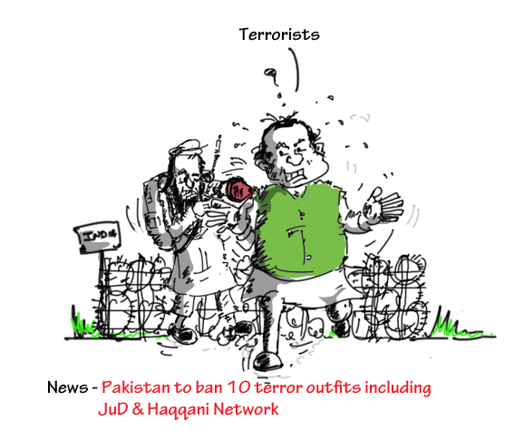 mysay.in,cartoon on pakistan bans jud and haqqani network terror outfits,