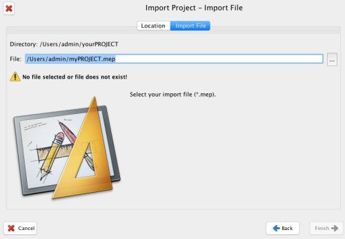 import project file