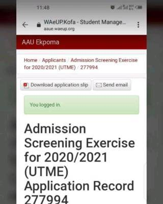AAU admission list for 2020/2021 session is out
