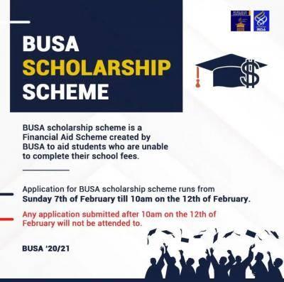 Babcock University Students' Association scholarship scheme, 2020/2021