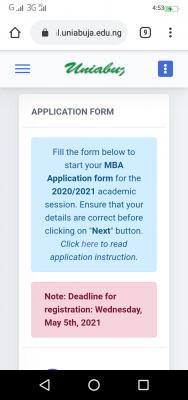 UNIABUJA new deadline for application into business school, 2019/2020 session