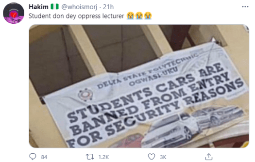 Delta poly allegedly bans students from driving cars on campus