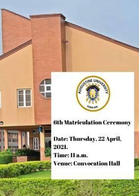 Augustine University announces 6th matriculation ceremony