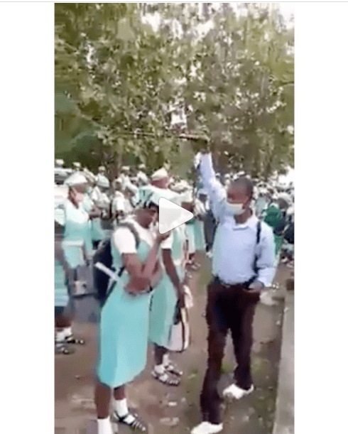 Viral Footage of a School Fumigating Students with an Unknown Substance (video)