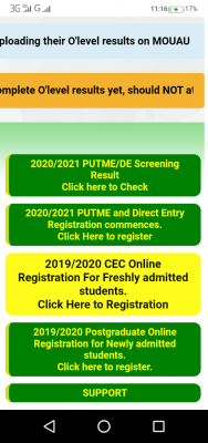 MOUAU Post-UTME screening result for 2020/2021 session
