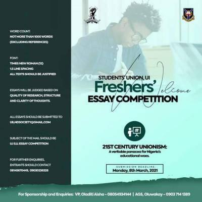 UI Students' Union announces essay competition