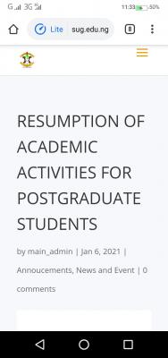 BASU notice on resumption for postgraduate students