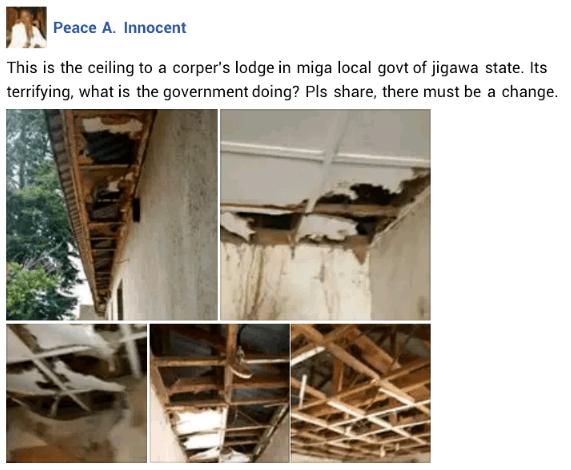 Shocking State of Jigawa State Corper's Lodge