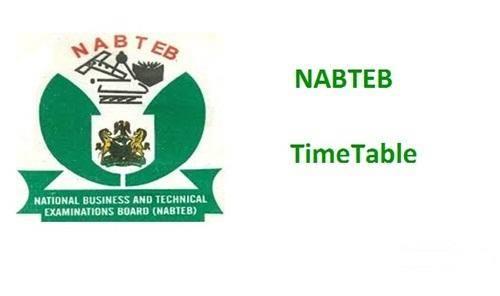NABTEB Timetable for 2019 May/June NBC/NTC Examinations