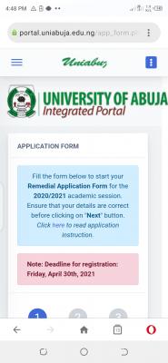 UNIABUJA extends remedial programme application deadline, 2020/2021