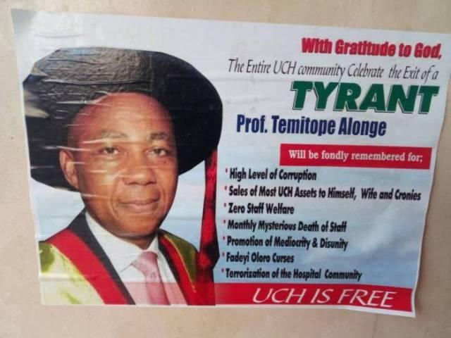 Staff of University College Hospital (UCH) Ibadan Disgrace Retiring Chief Medical Director