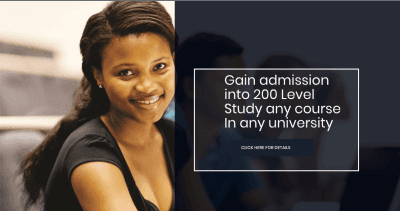 How To Gain admission into 200 Level Without Jamb