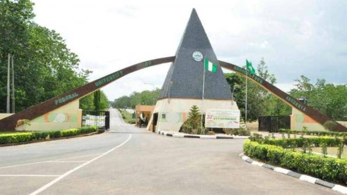 FUNAAB Part-time Admission Form for 2019/2020 Session