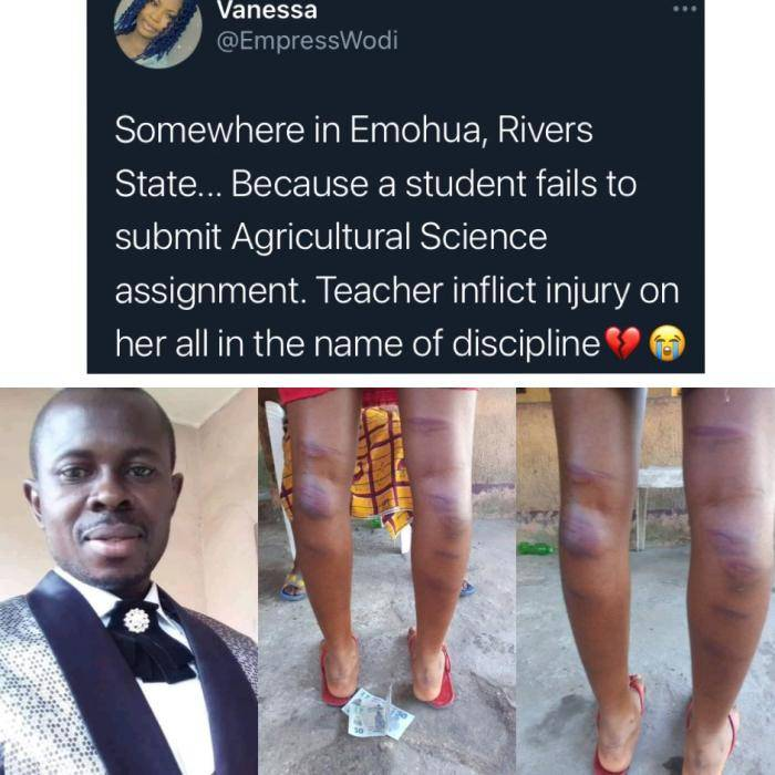 Rivers teacher brutalizes student for failing to submit an assignment