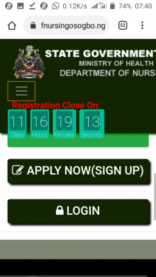 Osun State School of Nursing Extends Application Deadline