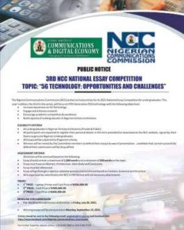 Apply for Nigeria Communications Commission 3rd essay competition