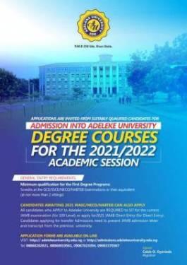 Adeleke University Post-UTME/DE 2021: Eligibility and Registration Details