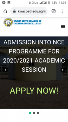 Kwara College of Education Lafiagi Post-UTME 2020: Cut-off mark, Eligibility, Registration details
