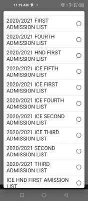 Elechi Amadi Poly 5th ND part-time admission List, 2020/2021 session